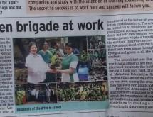 Green Brigade at Work